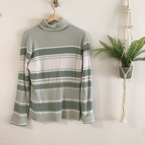 Sonoma Sweaters - Striped Mint Sweater